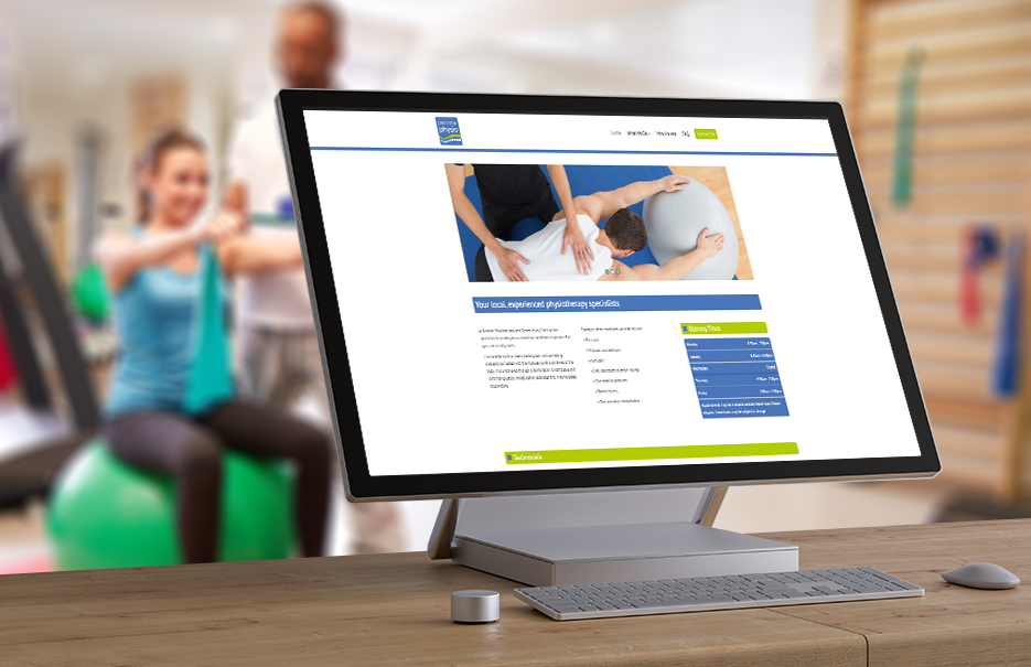 Pennine Physiotherapy website by JPixels